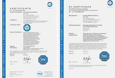 Οξύμετρο με Διεθνείς Πιστοποιήσεις: certified by FDA of United States and CE &TUV of Europe
